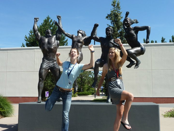 Lauren De Crescenzo (left) with her BFF Heather Fisher (right) at the Olympic Training Center. photo: M. De Crescenzo