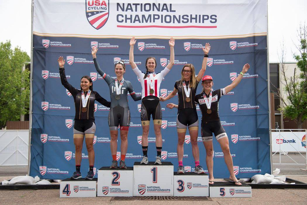 De Crescenzo finished third in the Omnium at Collegiate Road Nationals earlier this year. photo: Casey B. Gibson / USA Cycling