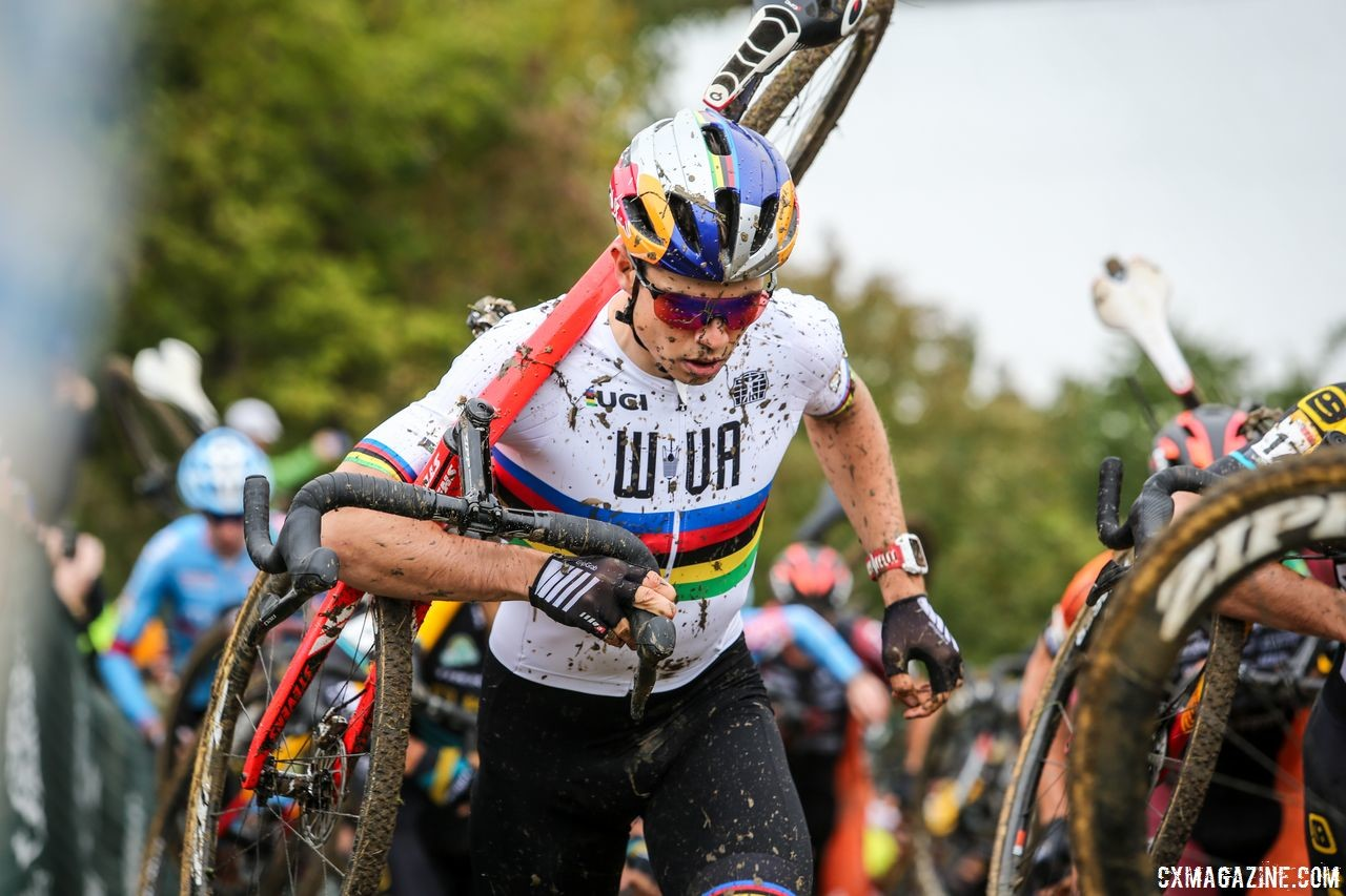 Wout van Aert was unattached at the U.S. World Cups this year. 2018 Jingle Cross World Cup. © J. Corcoran / Cyclocross Magazine