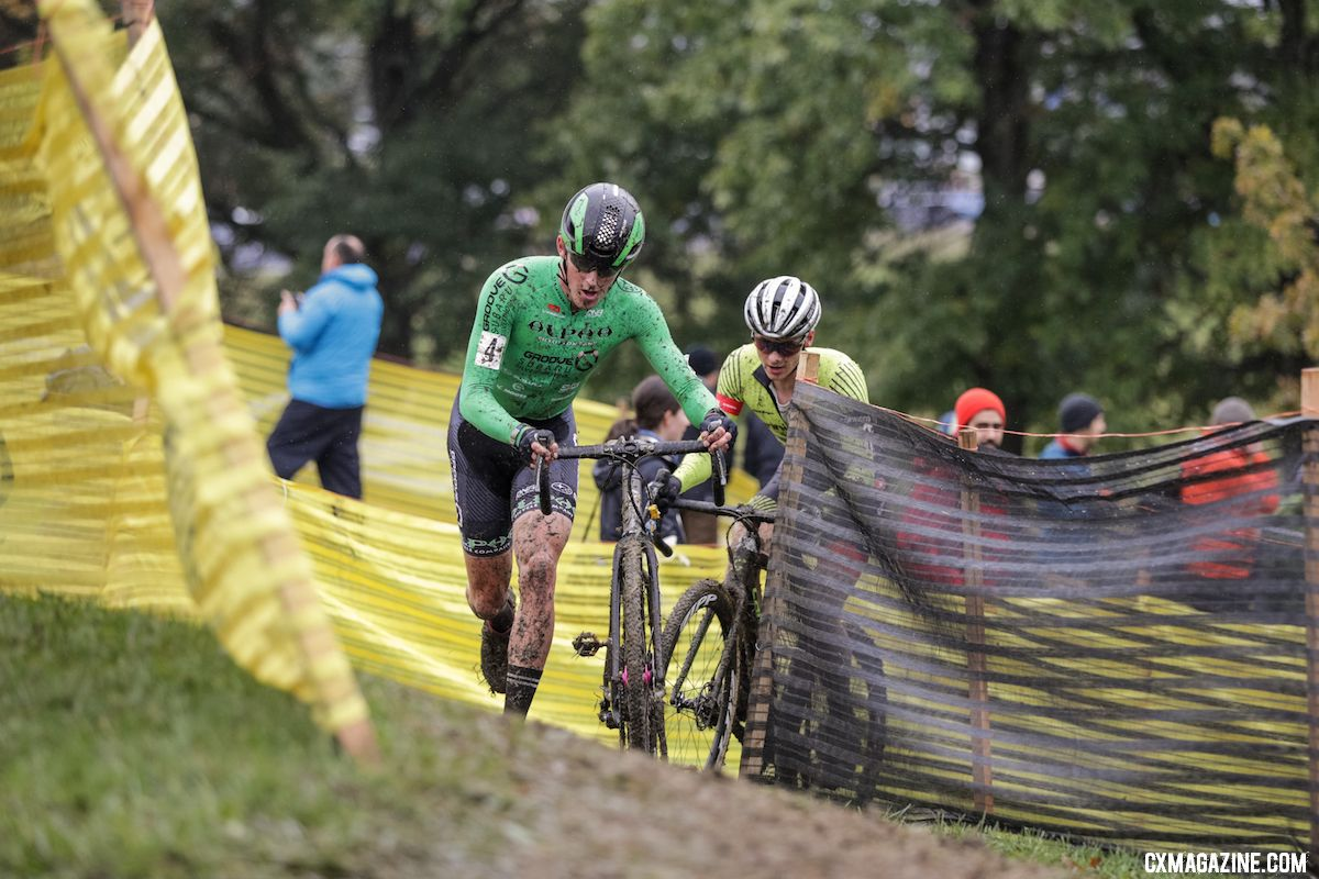 Hecht leads Willsey. 2018 Cincinnati UCI Cyclocross Day 1. Elite Men. © Bruce Buckley