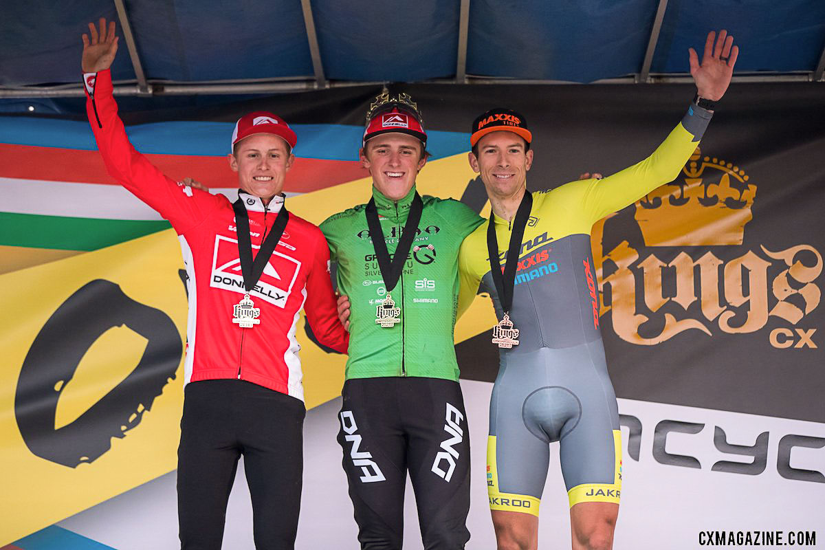 Haidet, Hecht and Werner. 2018 Cincinnati UCI Cyclocross Day 1. Elite Men. © Bruce Buckley