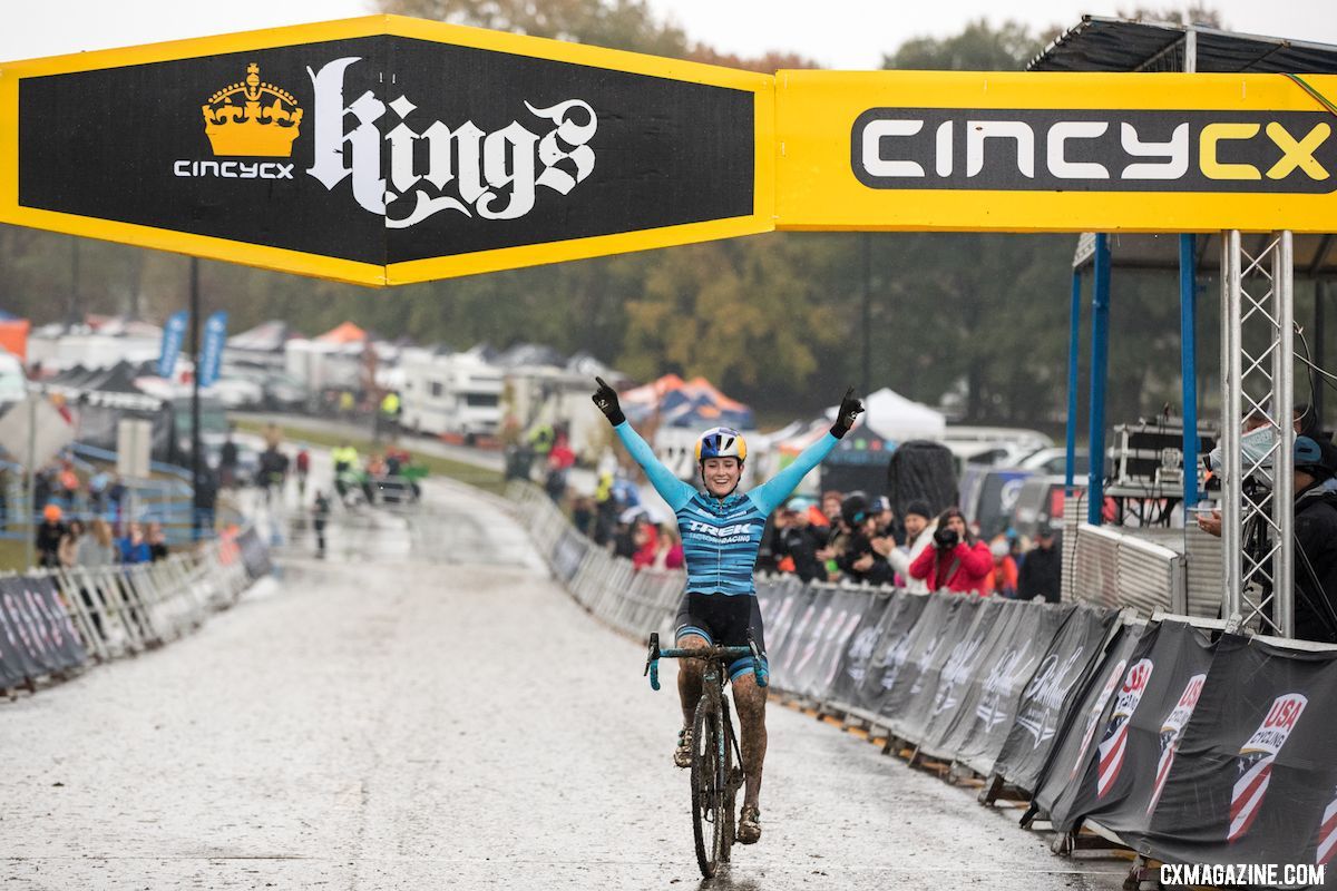 Noble takes 2018 Cincinnati UCI Cyclocross Day 1. Elite Women. © Bruce Buckley