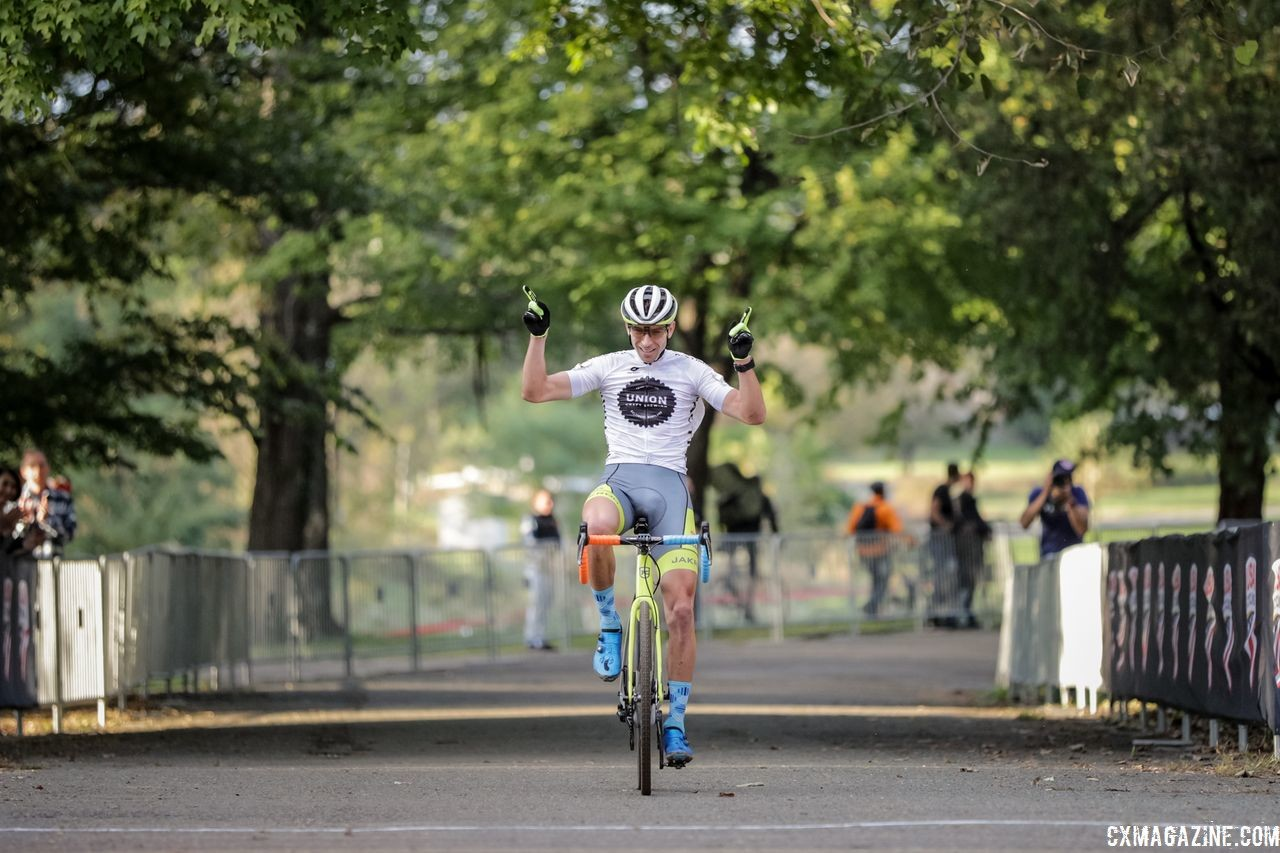 Kerry Werner celebrates his fifth career DCCX win. 2018 DCCX Day 1. © B. Buckley