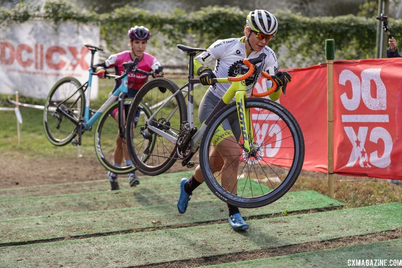 Rebecca Fahringer overcame a flat to finish third. 2018 DCCX Day 2. © B. Buckley