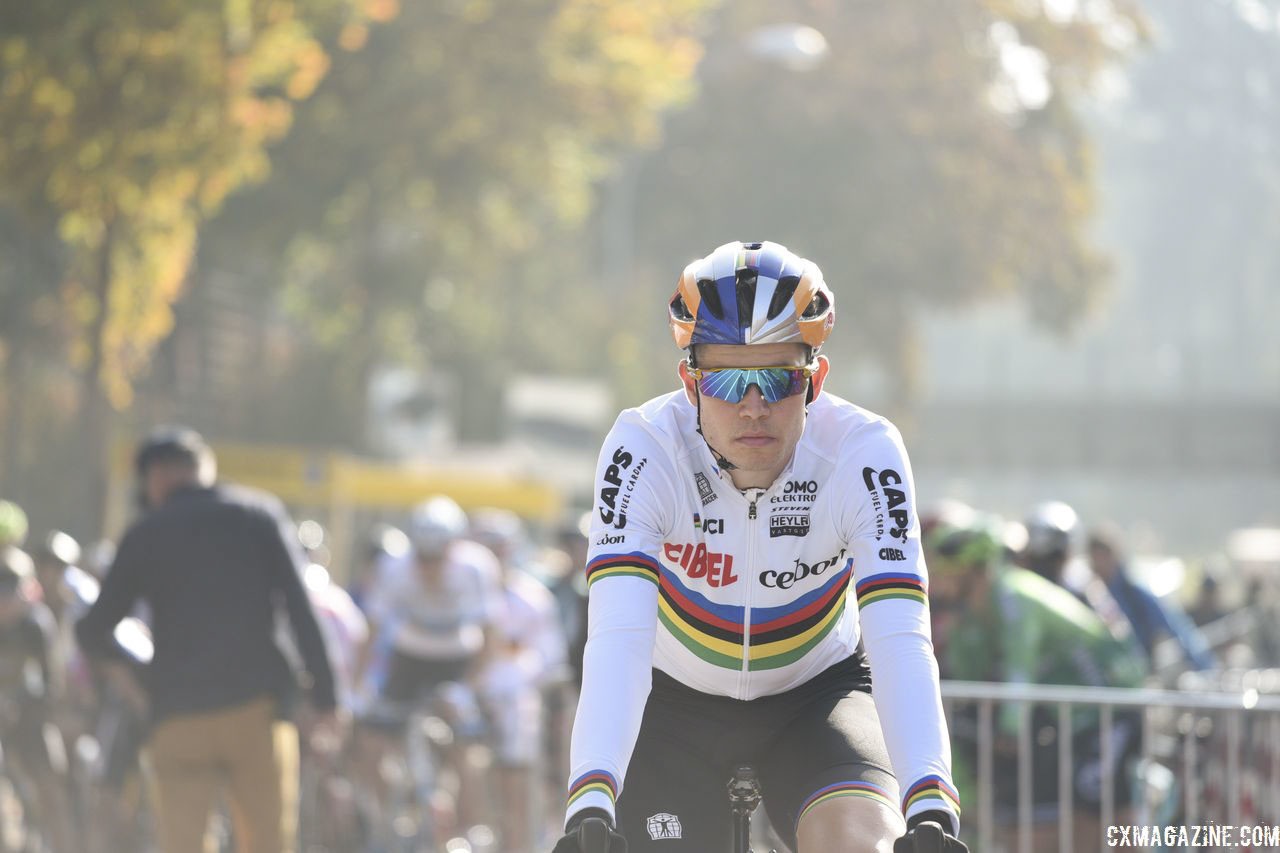 Wout van Aert was ready to go on Sunday in Bern. 2018 World Cup Bern. © E. Hausmesser / Cyclocross Magazine
