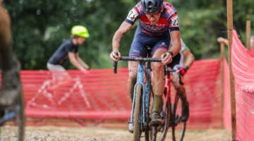 Driscoll took his turn after the front, and would finish third. 2018 Charm City Cyclocross. © Bruce Buckley