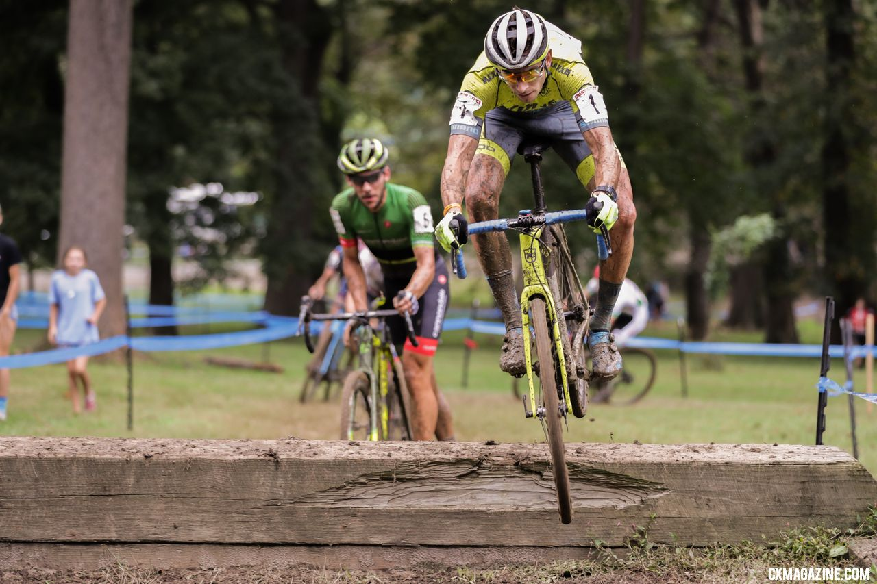 Werner took another leap up the UCI rankings with his UCI C1 win. 2018 Charm City Cyclocross. © Bruce Buckley