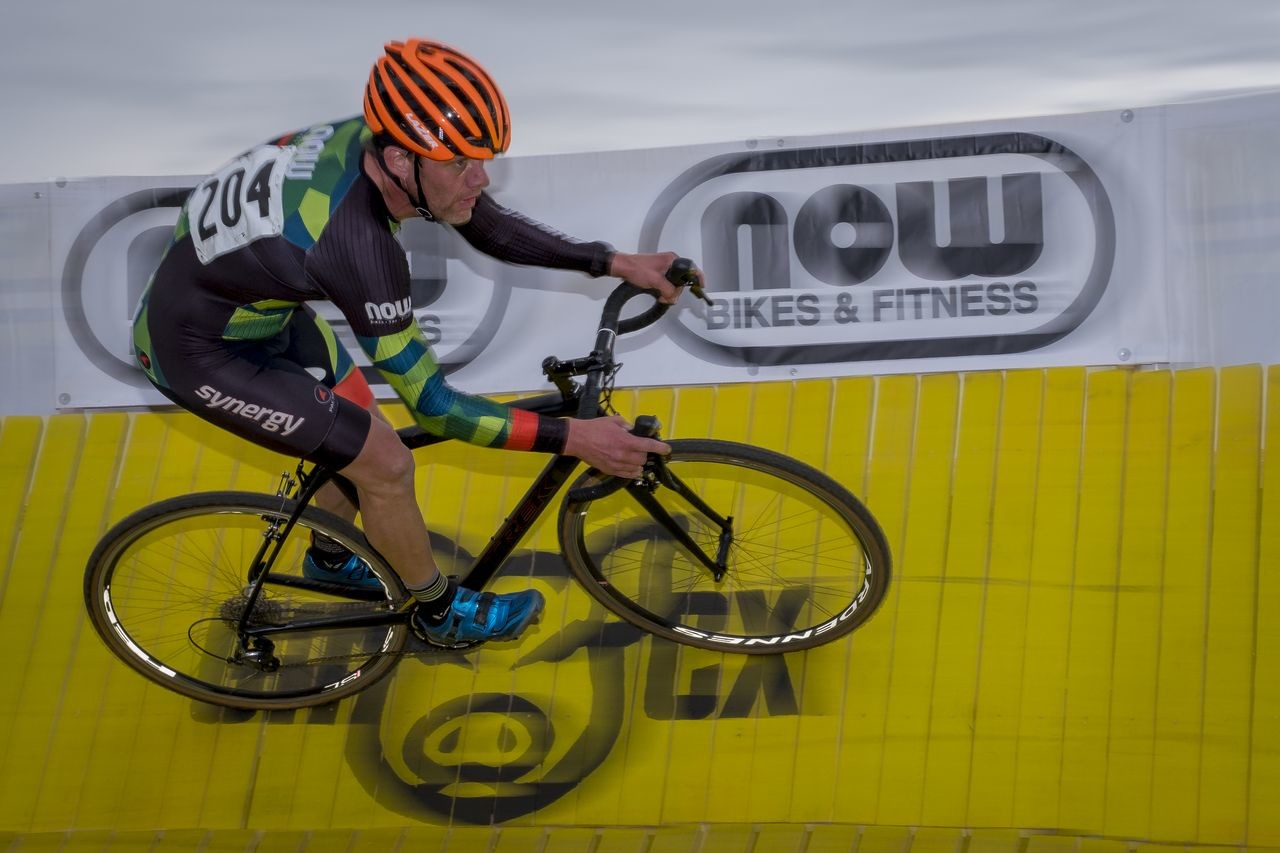 The berm is back at Green Acres CX this year. photo: Todd Fawcet