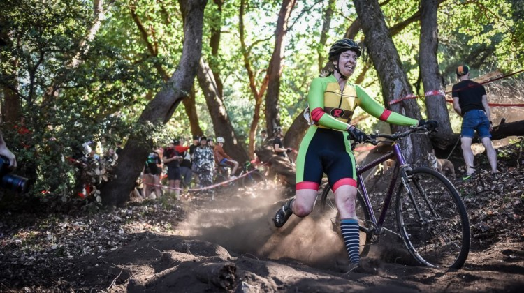 Flat bar turtle power. 2018 Surf City Rock Lobster Cup. © J. Vander Stucken / Cyclocross Magazine