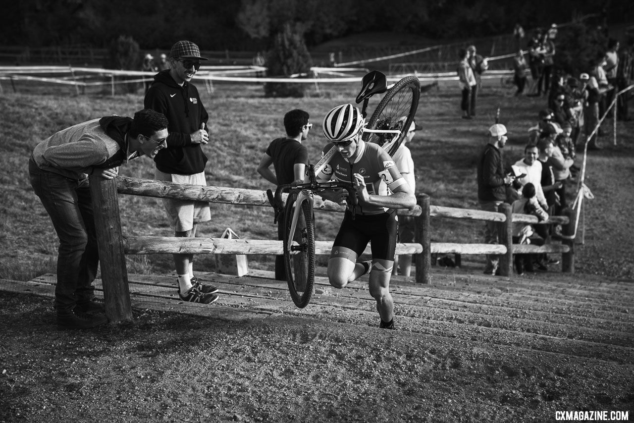 Lance Haidet chases Gage Hecht. Elite Men. 2018 US Open of Cyclocross Day 1. © Col Elmore