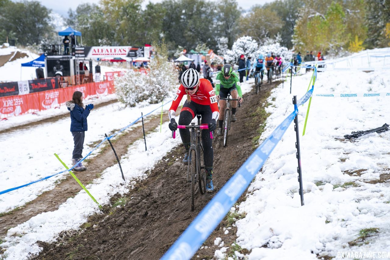 Winter arrived in October in Boulder on Sunday. 2018 US Open of Cyclocross, Day 2. © Col Elmore