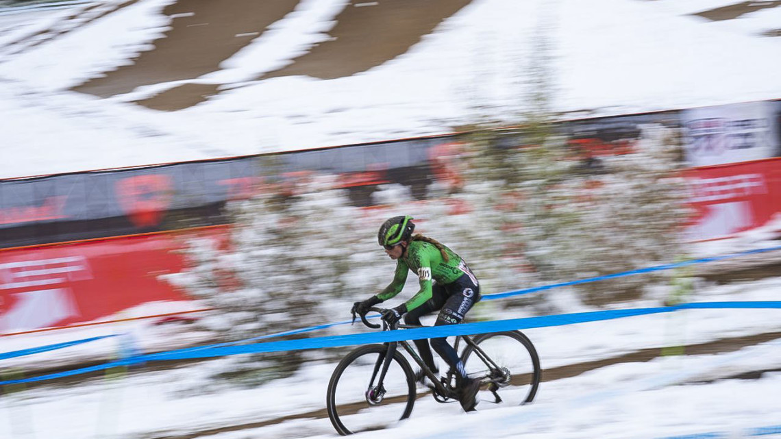 Katie Clouse finished second on Sunday. 2018 US Open of Cyclocross, Day 2. © Col Elmore