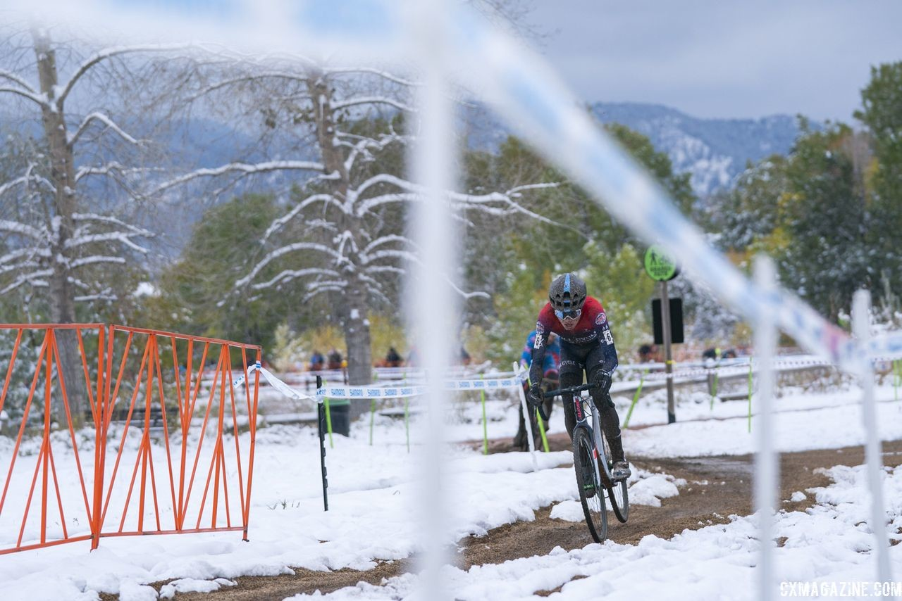 Eric Brunner finished second on Sunday. 2018 US Open of Cyclocross, Day 2. © Col Elmore