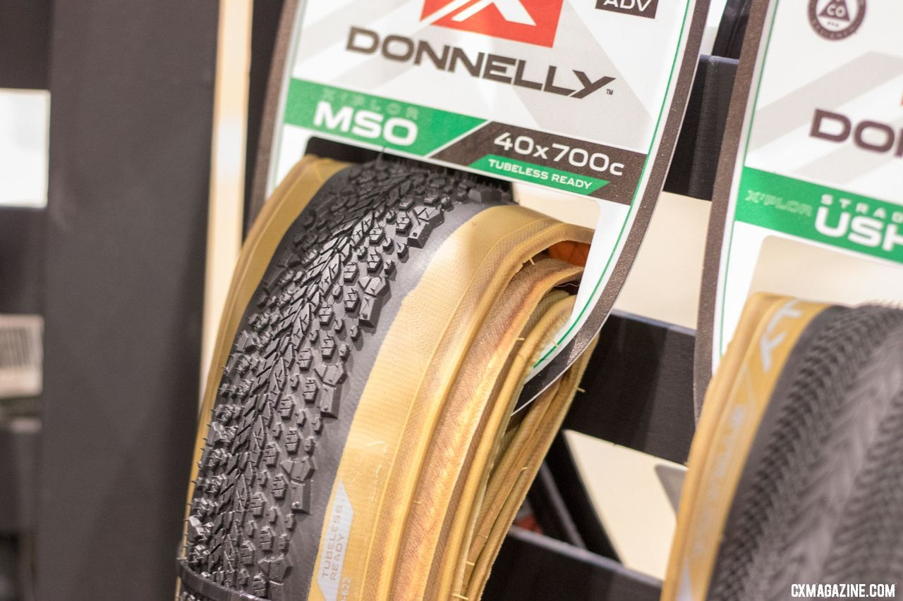 New Donnelly gravel tires now come in a new tan wall color. 2018 Interbike. © Cyclocross Magazine