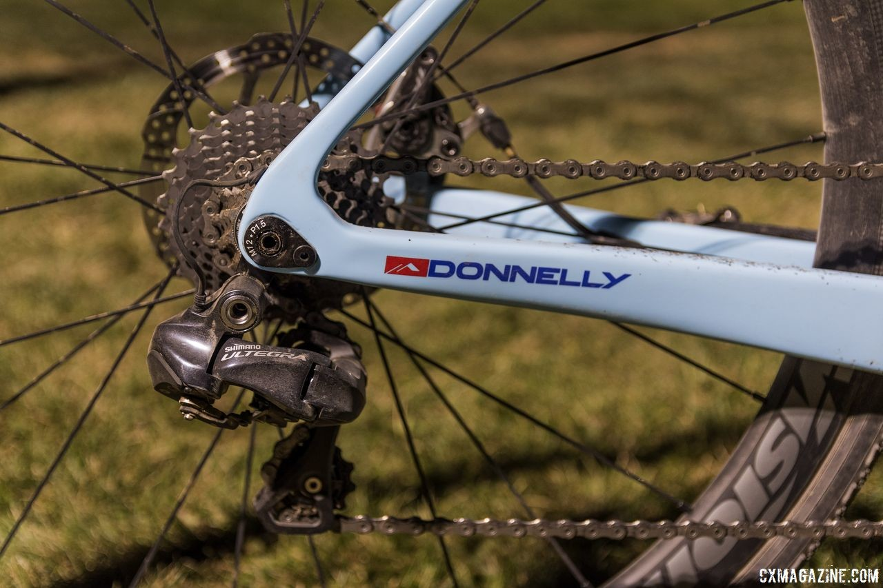 Haidet ran older Ultegra 6870 derailleurs instead of the FSA K-Force WE we saw him use at Sea Otter. Lance Haidet's 2018 RenoCross Donnelly C//C Cyclocross Bike. © C. Lee / Cyclocross Magazine