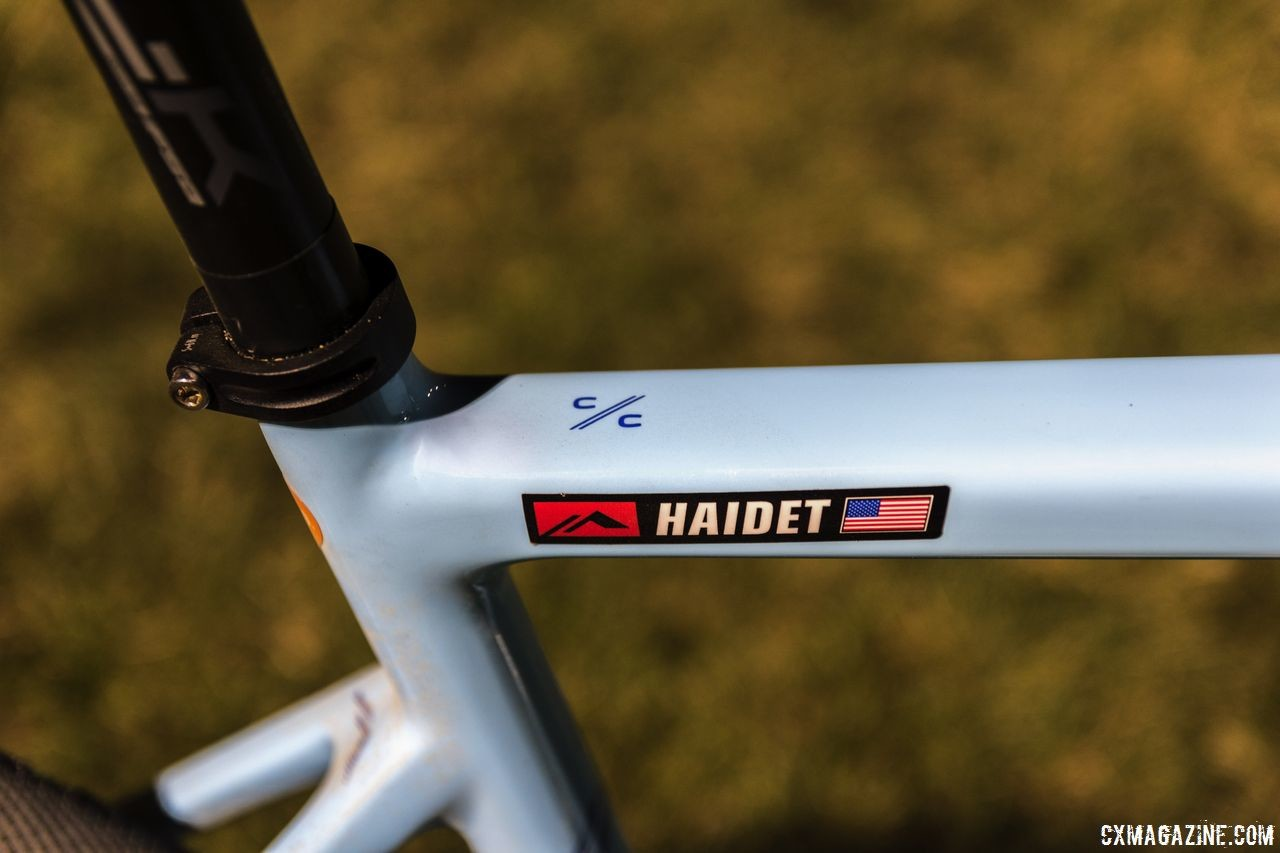 The C/C is Donnelly Cycling's cyclocross specific frame released earlier this year. Lance Haidet's 2018 RenoCross Donnelly C//C Cyclocross Bike. © C. Lee / Cyclocross Magazine