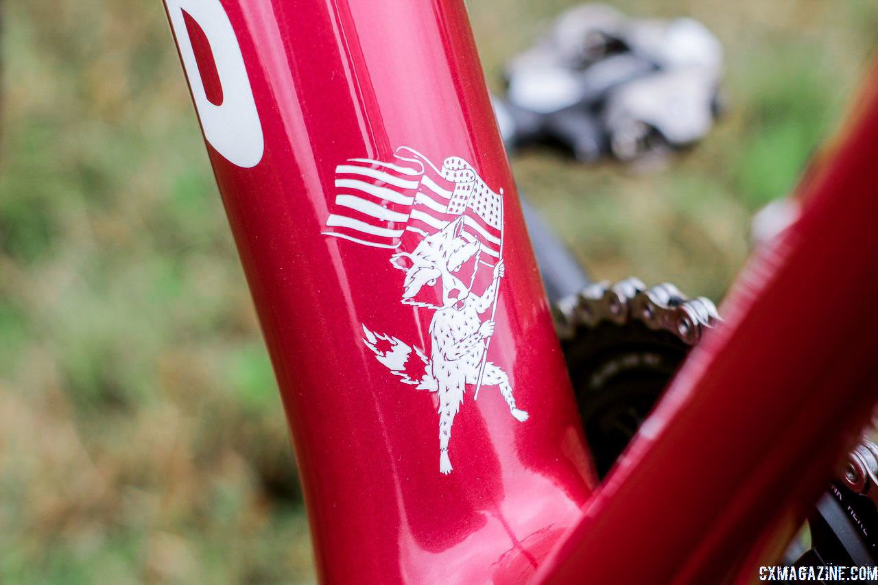 Hyde's spirit animal. Stephen Hyde's 2018/19 Cannondale SuperX Cyclocross Bikes. © Z. Schuster / Cyclocross Magazine