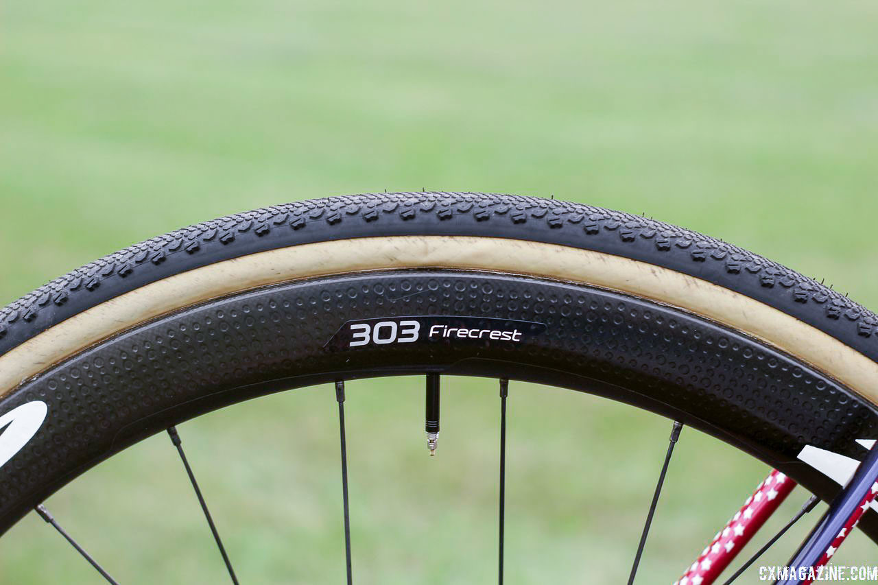 Hyde runs the 45mm-deep Zipp Firecrest 303 carbon tubulars. Stephen Hyde's 2018/19 Cannondale SuperX Cyclocross Bikes. © Z. Schuster / Cyclocross Magazine