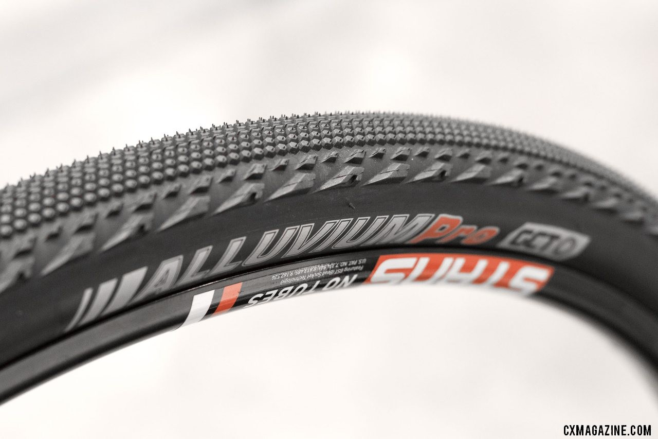The Kenda Alluvium gravel tire was unveiled at Sea Otter but is now shipping. New Kenda cyclocross and gravel tires from 2018 Interbike. © Cyclocross Magazine