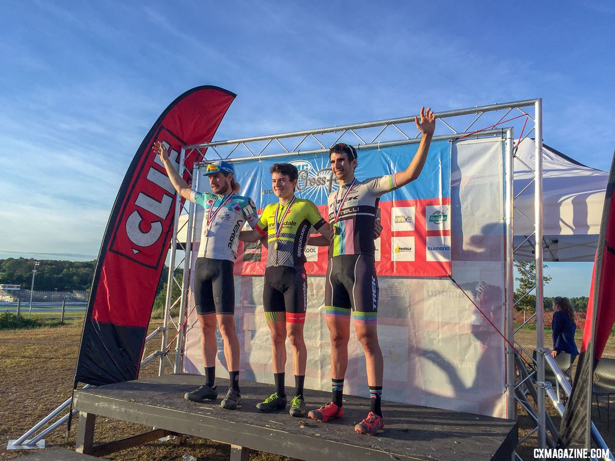 2018 KMC CrossFest Elite Men's podium. photo: Eddie Medina