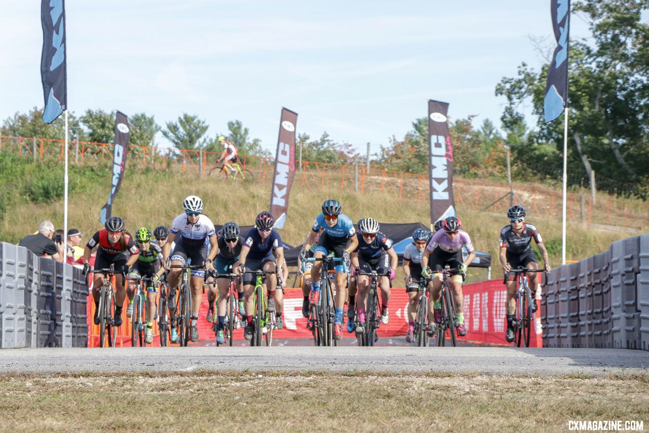 2018 KMC CrossFest Elite women's start. photo: Eddie Medina