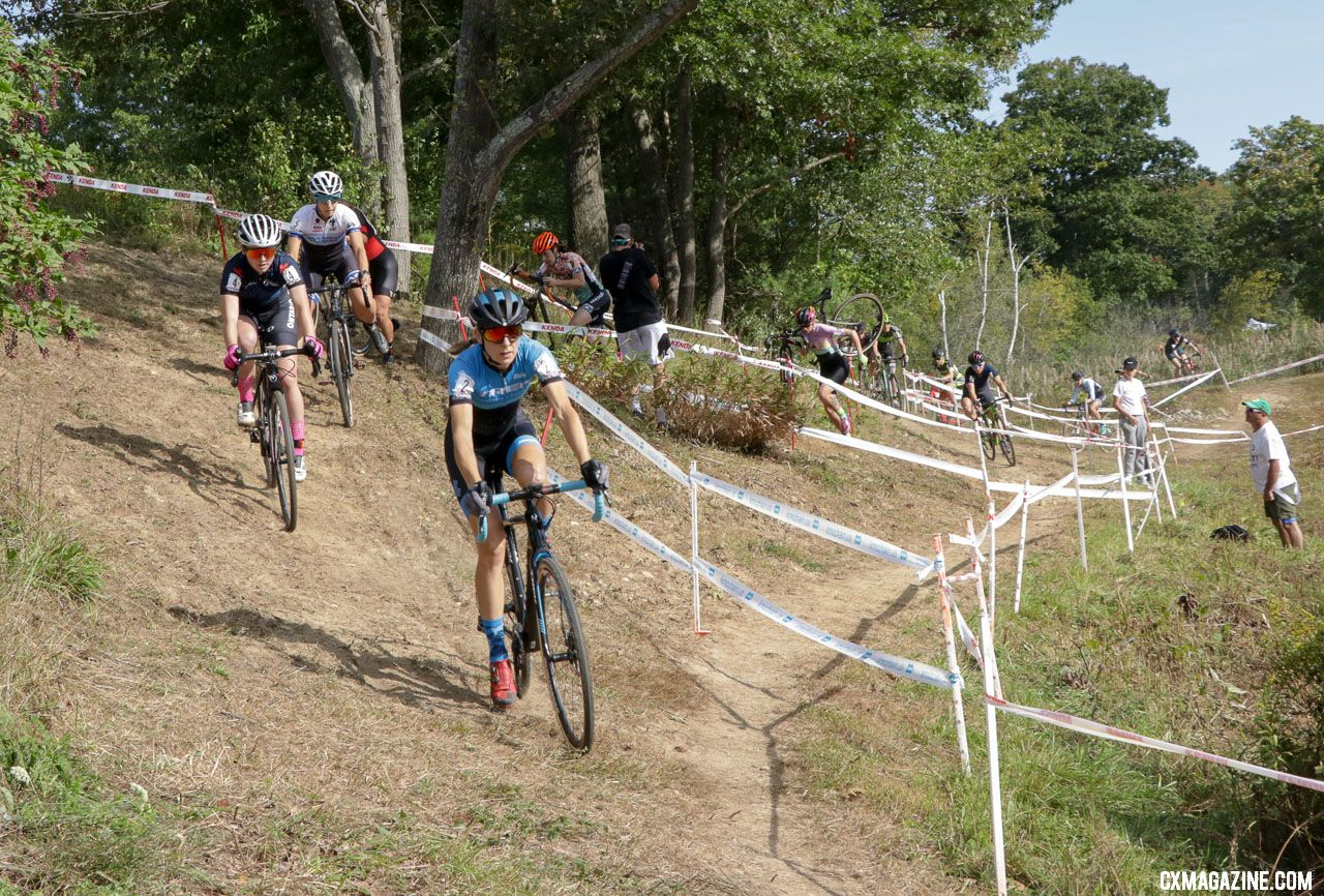 Legge leads the women's field. 2018 KMC CrossFest. photo: Eddie Medina