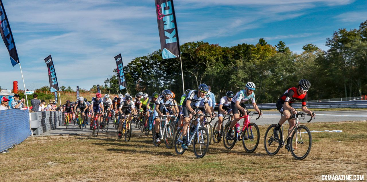 The Elite Men's start. 2018 KMC CrossFest. photo: Eddie Medina
