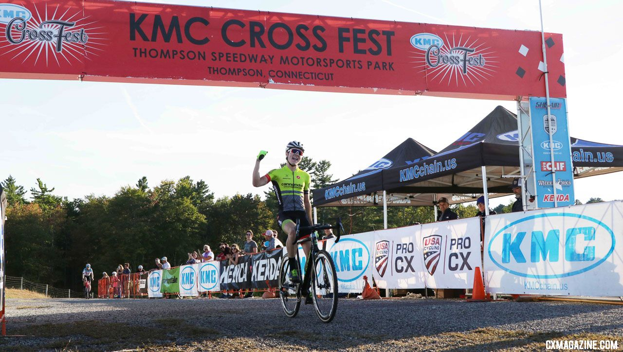 Maher takes the win. 2018 KMC CrossFest. photo: Eddie Medina