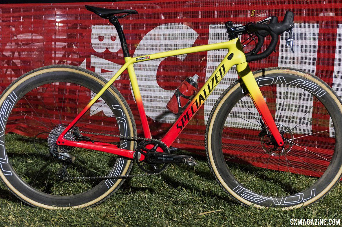 Maghalie Rochette's winning Specialized Crux. RenoCross 2018. © C. Lee / Cyclocross Magazine