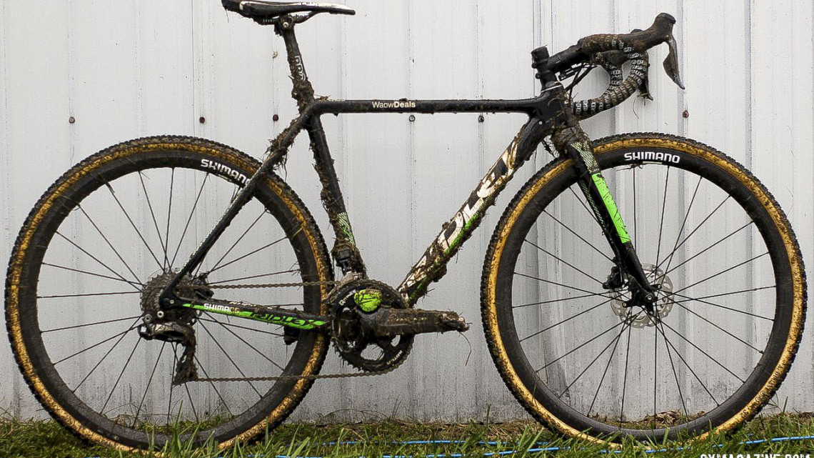 Marianne Vos' Ridley X-Night SL Disc, 2018 Jingle Cross World Cup. © Z. Schuster / Cyclocross Magazine