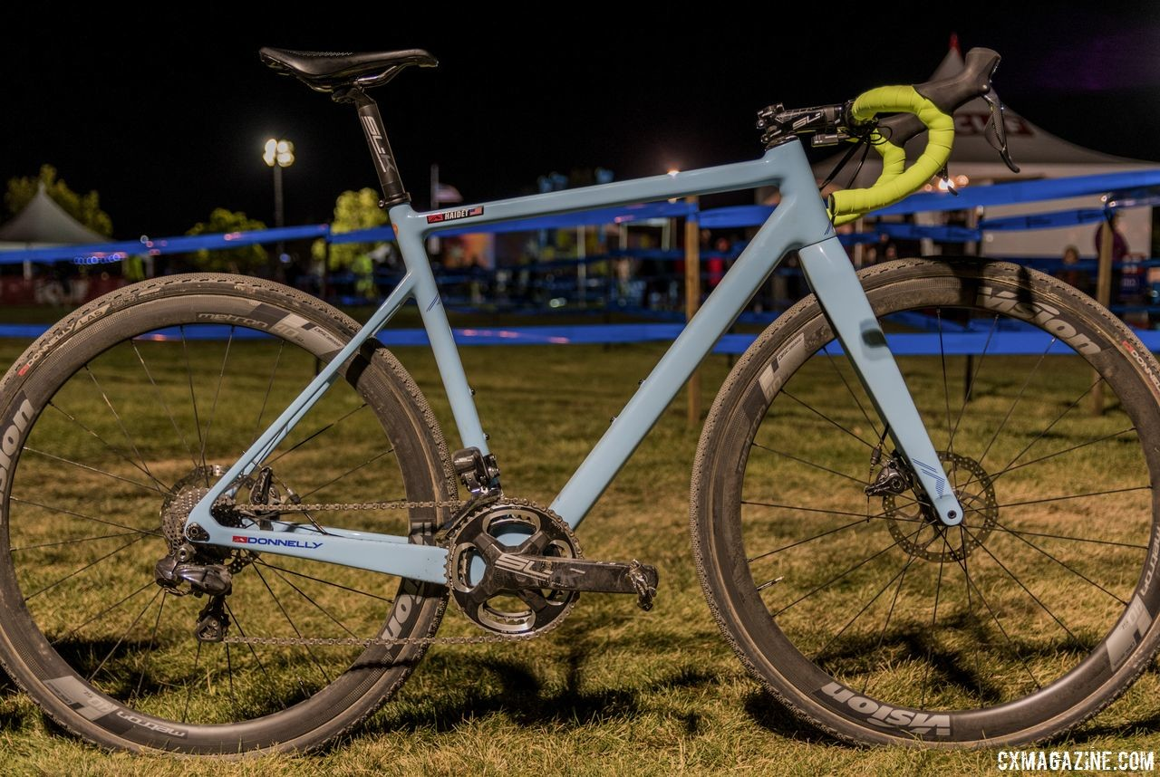 We saw Haidet's C//C at RenoCross last fall. Lance Haidet's Donnelly C//C carbon fiber cyclocross bike, RenoCross 2018.