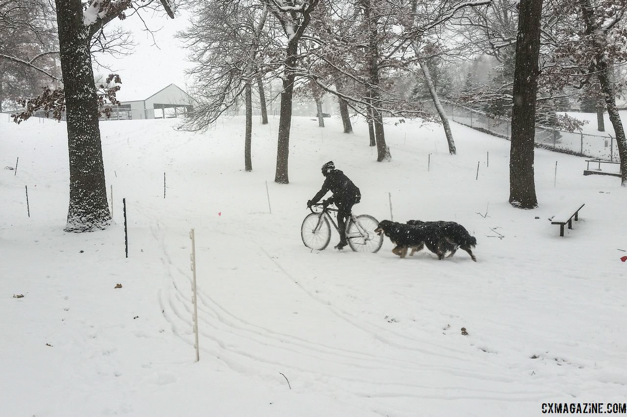 Winter 'cross can be fun for the whole family. © Z. Schuster / Cyclocross Magazine