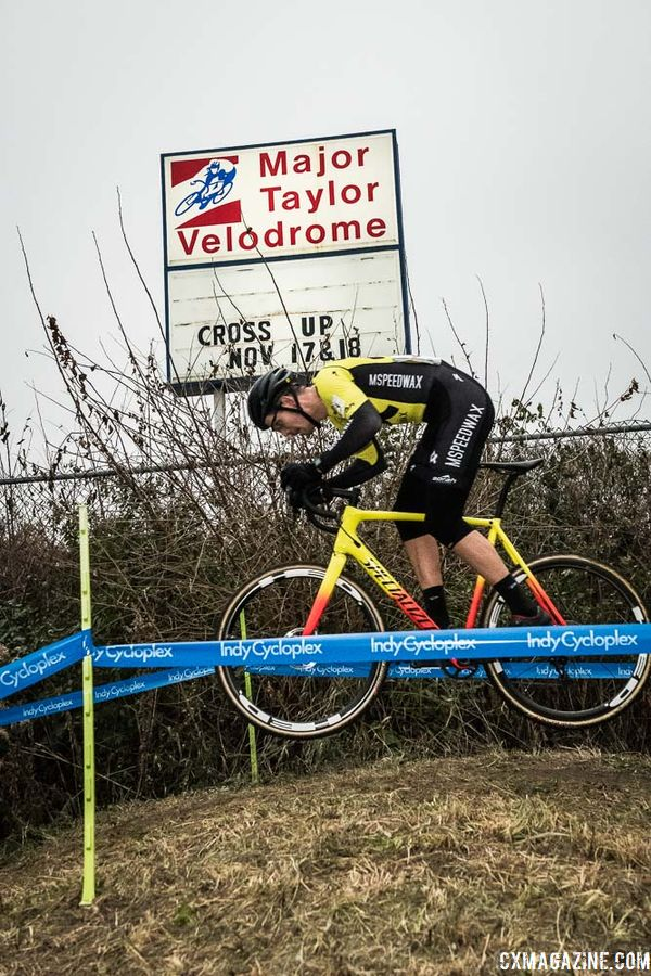 Cyclocross was on the marquee at the Major Taylor Velodrome. 2018 Major Taylor Cross Cup Day 2. © Mike Almert, Action Images Indy