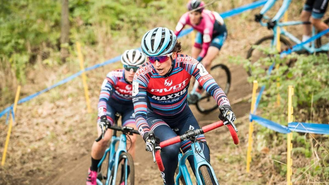 Courtenay McFadden was back battling for a podium spot on Sunday. 2018 Major Taylor Cross Cup Day 2. © Mike Almert, Action Images Indy
