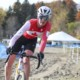 Ruby West uses some moves to get through one of the sand sections. 2018 Pan-American Cyclocross Championships, Midland, Ontario. © Z. Schuster / Cyclocross Magazine