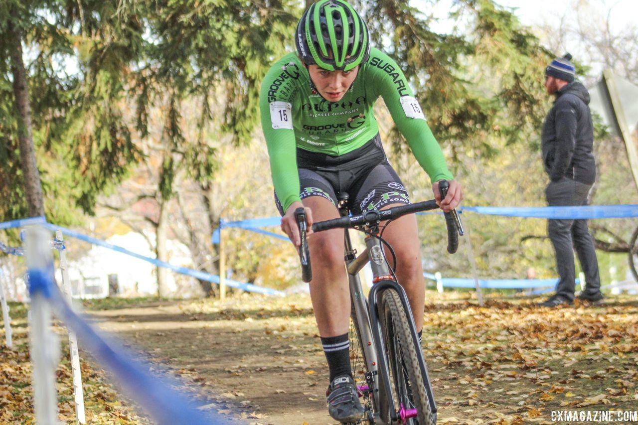 Turner Ramsay is among the many cyclocrossers racing the Crusher. 2018 Pan-American Cyclocross Championships, Midland, Ontario. © Z. Schuster / Cyclocross Magazine