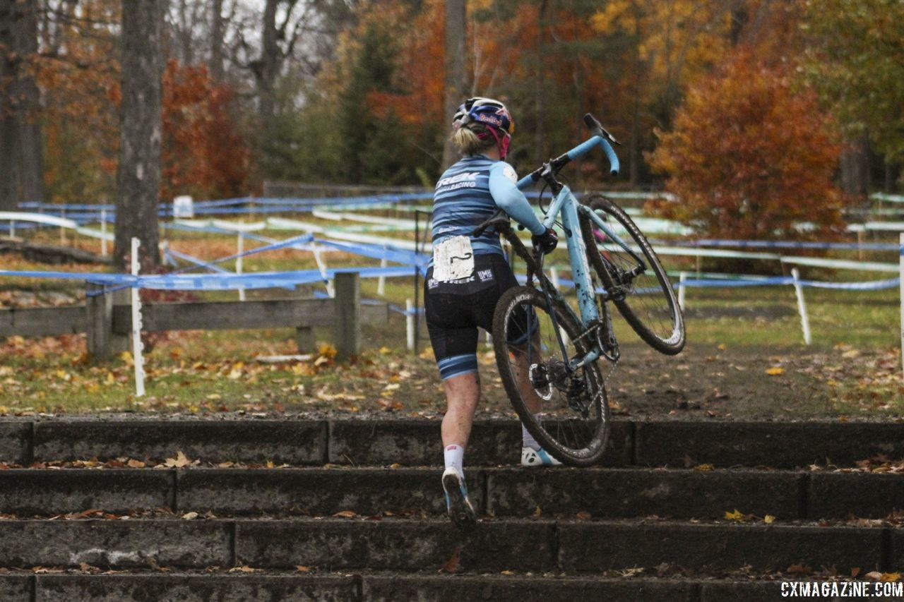 Noble spent a lot of time with no one ahead on Saturday. 2018 Silver Goose Cyclocross UCI C2 © Z. Schuster / Cyclocross Magazine
