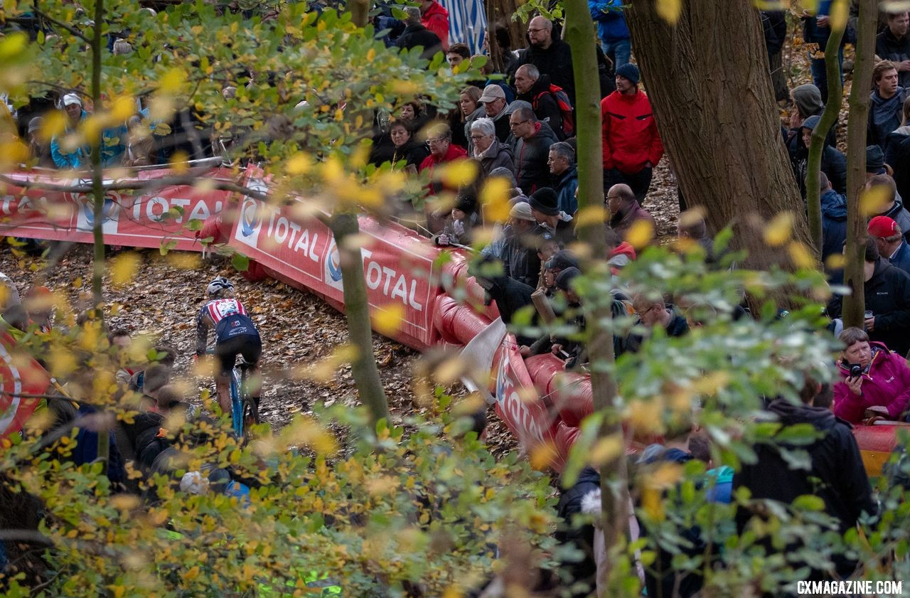 National Champ Katie Compton had a day to forget, finishing 24th. 2018 Superprestige Gavere Women. © A. Yee / Cyclocross Magazine