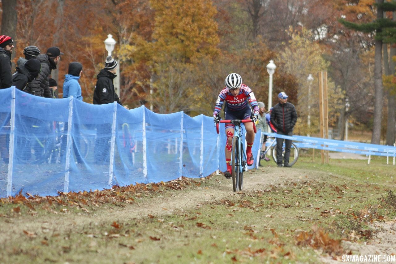 Courtenay McFadden finished fourth at Pan-Ams last year. 2018 Pan-American Cyclocross Championships, Midland, Ontario. © Z. Schuster / Cyclocross Magazine