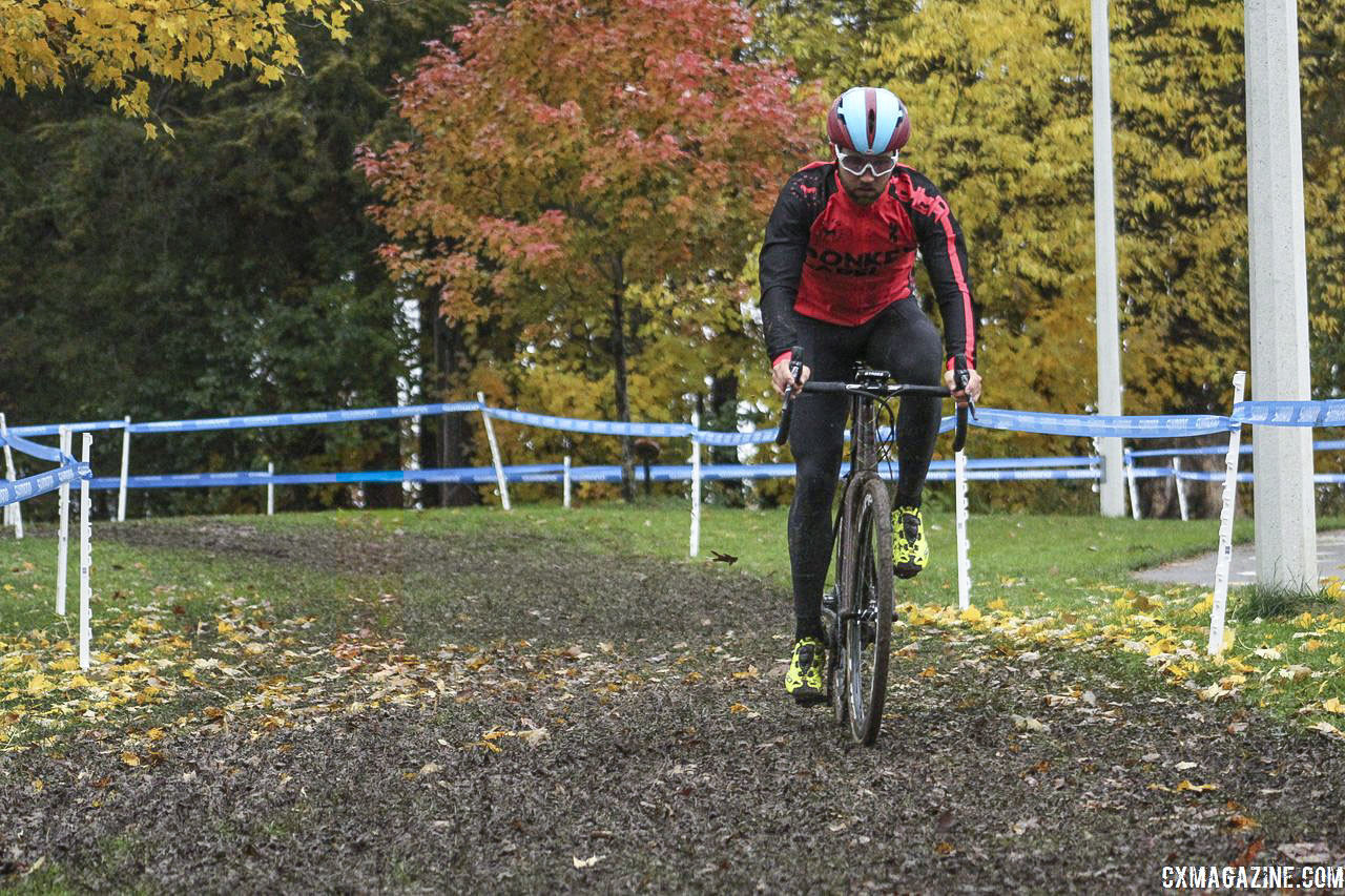 Conditions on Friday were muddy and colorful. 2018 Silver Goose CX Course Inspection, Friday. © Z. Schuster / Cyclocross Magazine