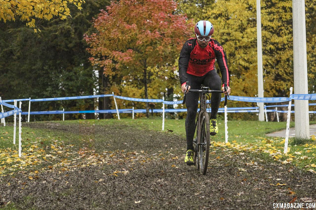 The mud starts almost immediately after the holeshot. 2018 Silver Goose CX Course Inspection, Friday. © Z. Schuster / Cyclocross Magazine
