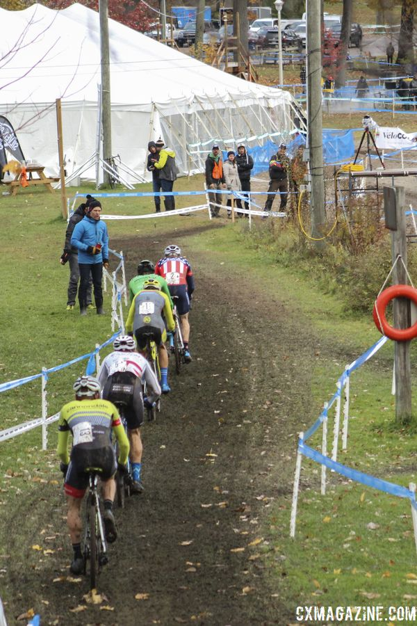 The lead group continued to dwindle as the race progressed. 2018 Silver Goose Cyclocross UCI C2 © Z. Schuster / Cyclocross Magazine