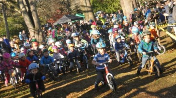 The kids' race had impressive turnout. 2018 MFG Cyclocross #6. © Robert Milligan