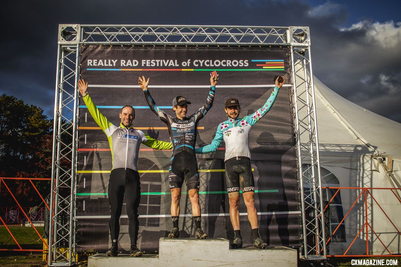 L to R: Bradford-Parish, Lindine, Smith. 2018 Really Rad Festival of Cyclocross Day 1. © Angelica Dixon
