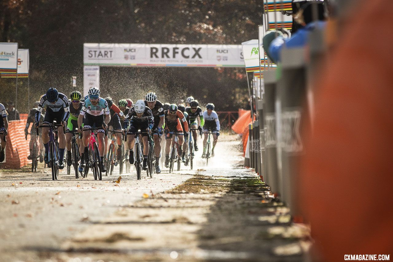 Smith leads the men off the line. 2018 Really Rad Festival of Cyclocross Day 1. © Angelica Dixon
