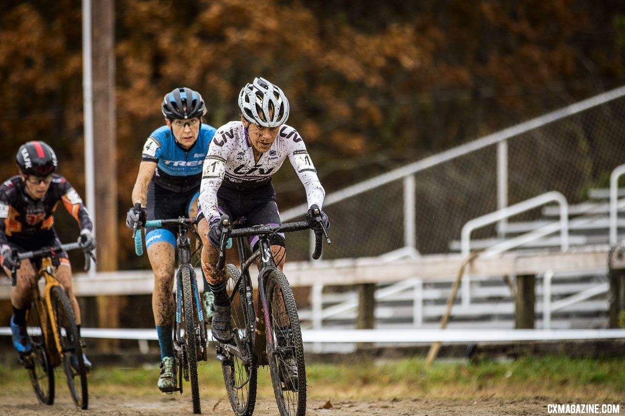 Anthony leads Legge on Day 1 of the 2018 Really Rad Festival of Cyclocross. © Angelica Dixon