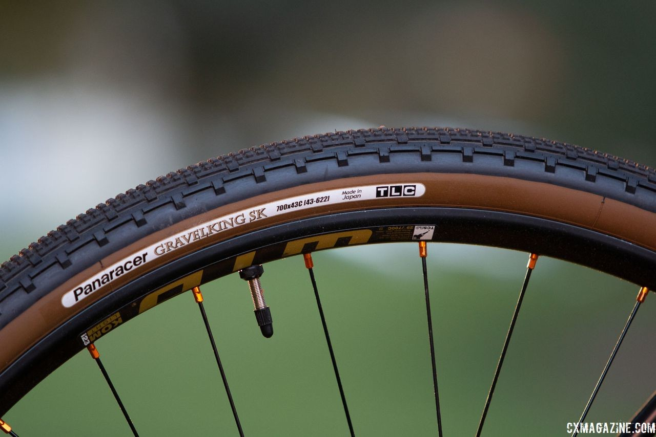 The Jari ships with Panaracer tubeless ready tires and WTB tubeless rims. 2019 Fuji Jari Carbon 1.1 Gravel bike. © Cyclocross Magazine