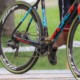 Jeremy Powers' prototype SRAM Red eTap 12-speed 1x drivetrain as seen in September at Rochester. You can see the Quarq power meter and 4-arm spider. © Bruce Buckley