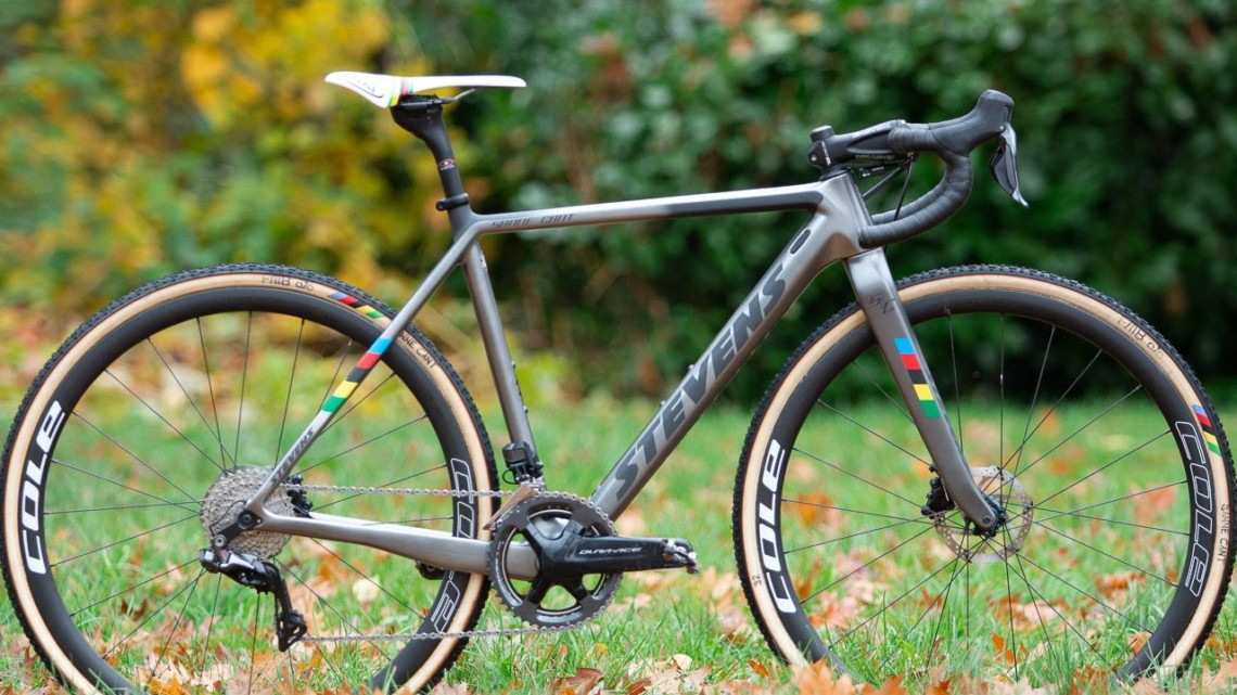 Sanne Cant's Stevens Super Prestige cyclocross bike. © A. Yee / Cyclocross Magazine