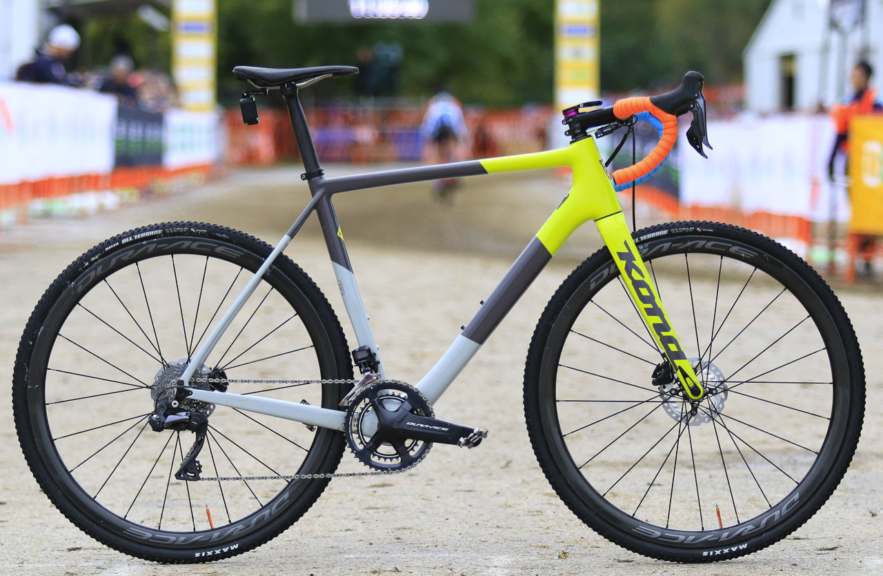 Kerry Werner's Kona Super Jake Cyclocross Bike, 2018 U.S. World Cups. © D. Mable / Cyclocross Magazine